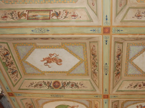soffitto in legno, B&B Little Queen, Largo argentina , Roma
